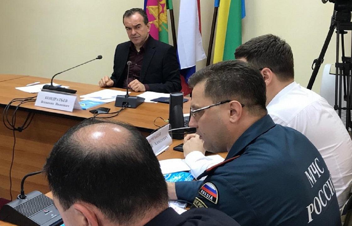Кондратьев сообщил о выплате компенсаиций пострадавшим от ливней на Кубани. Видео