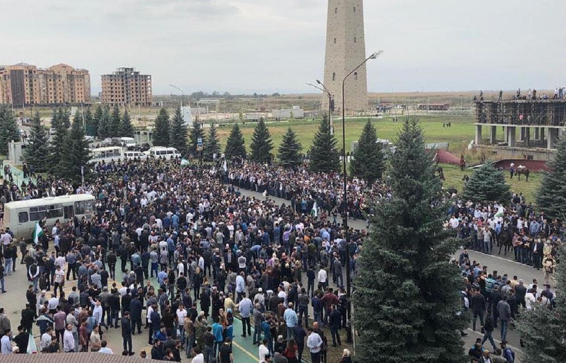 МВД Ингушетии подсчитало количество митингующих
