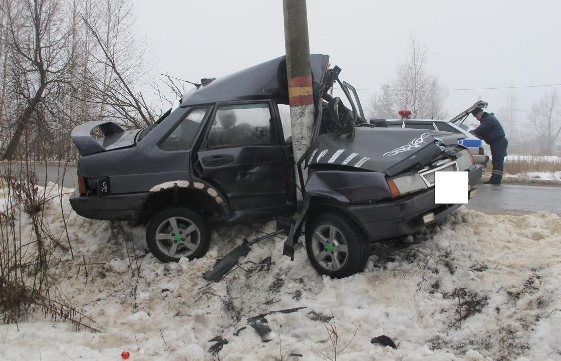 Трое погибли в ДТП со столбом в Кабардино-Балкарии