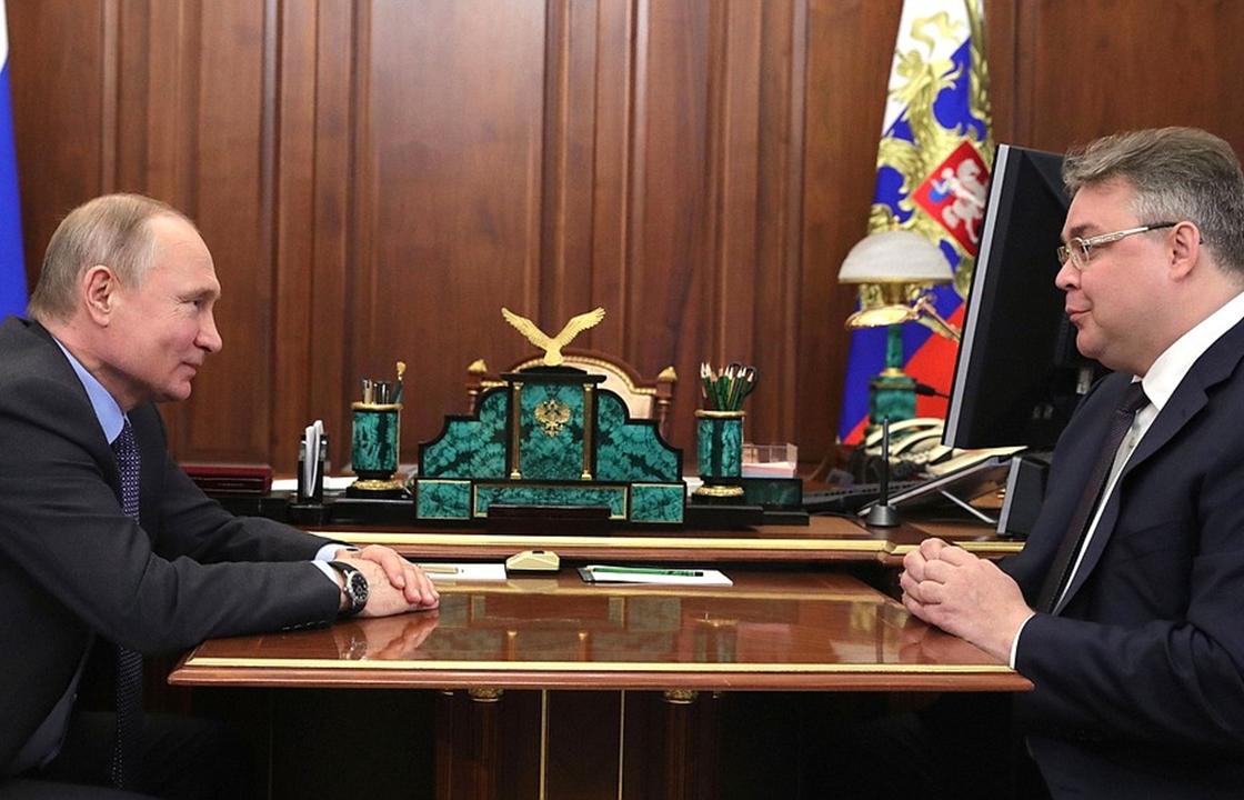 Путин пожелал губернатору Ставропольского края успехов на выборах