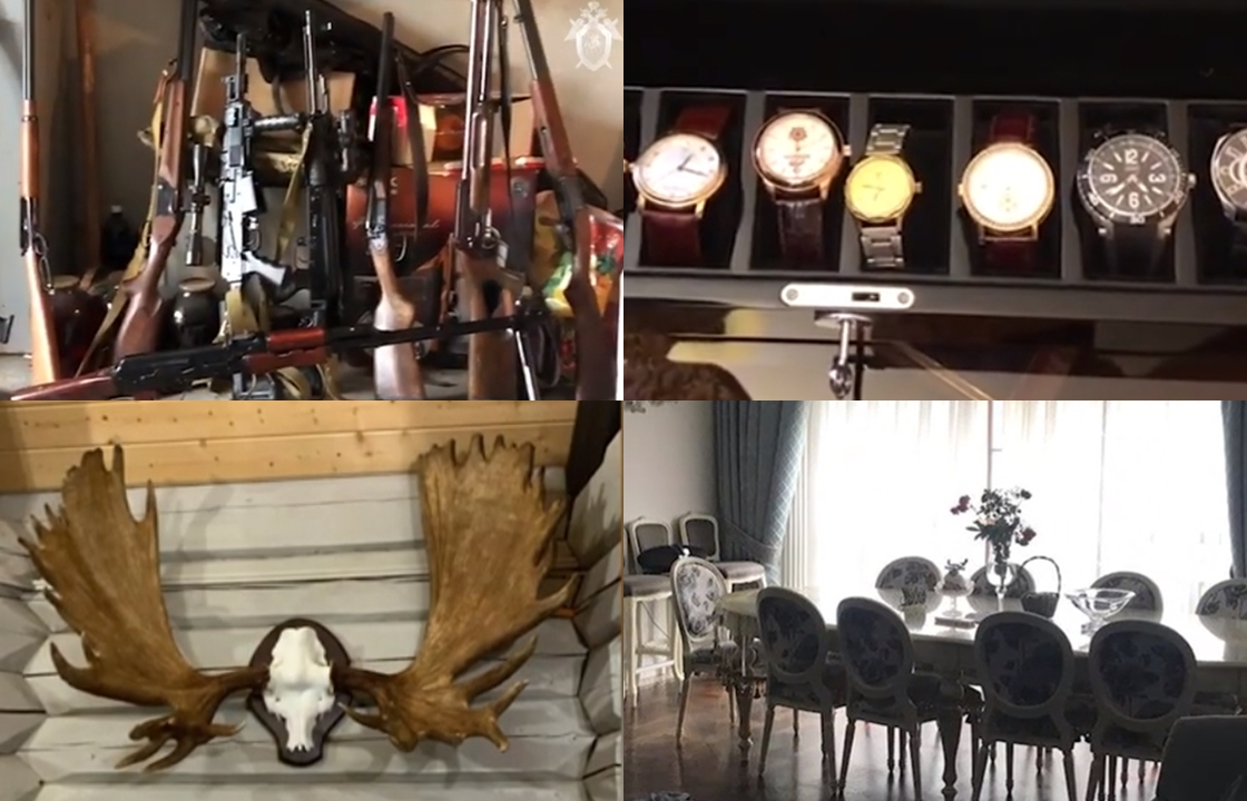 Арсенал, часы и рога: что нашли у задержанного сотрудника прокуратуры Северной Осетии. Видео