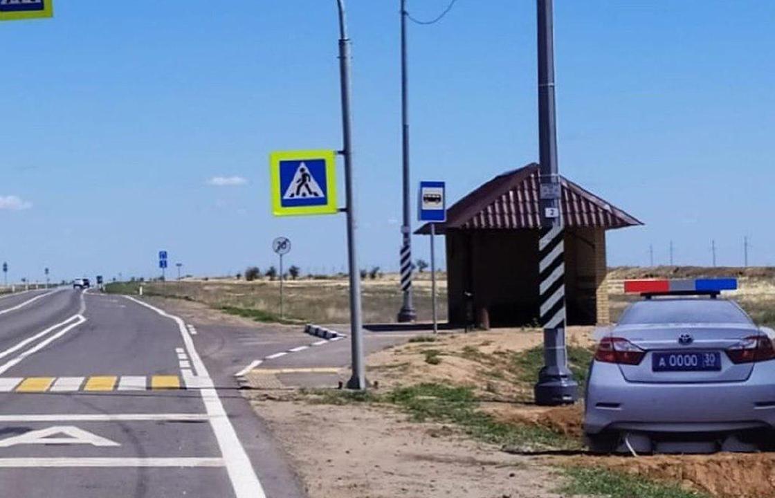 В Астрахани предотвращать ДТП решили с помощью макетов патрульных авто ДПС