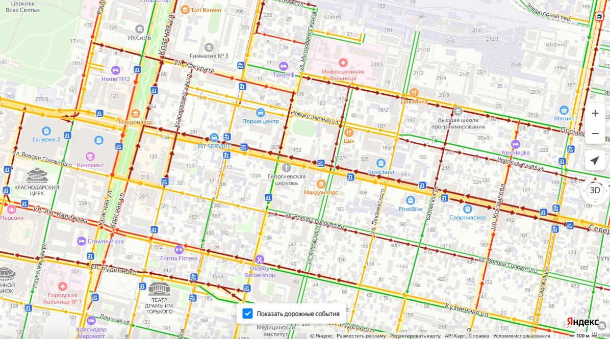 В Краснодаре на улице Северной сделали выделенку для общественного транспорта. Что об этом думают урбанисты?